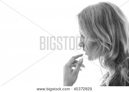 Young Blonde Woman Portrait