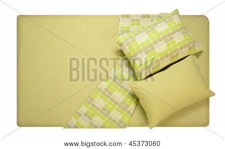 Bed isolated against white background.