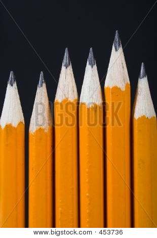 Black Pencils Standing Out - Vertical
