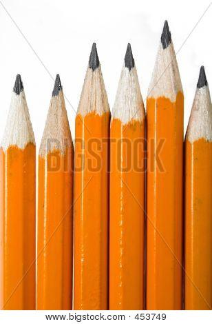 Black Pencils Over White
