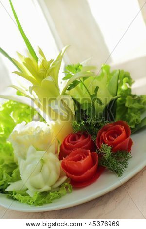 Bouquet From Tomato And Onion