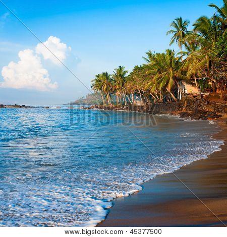 Tropical Paradise Beach On Sunsise Light
