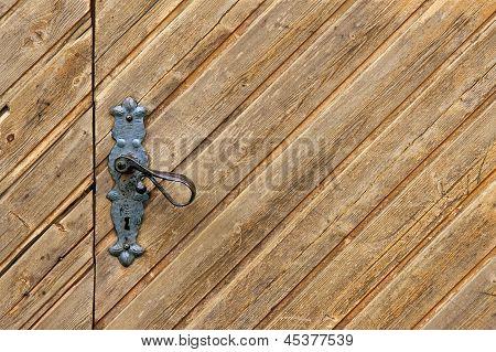 Wooden Door With Keyhole