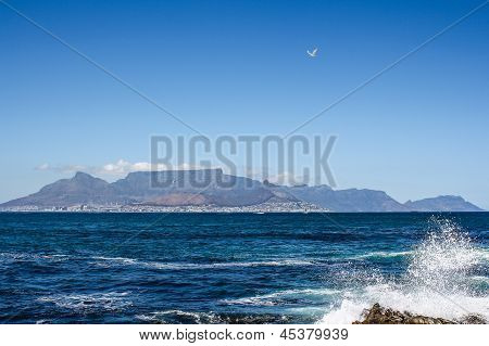 View Of Cape Town From Robben Island