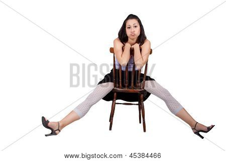 Woman With Chair