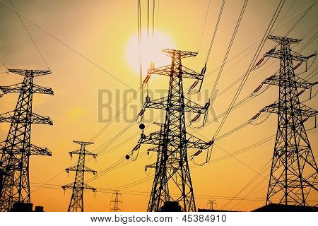 The Afterglow Of Transmission Tower