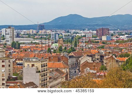 Capital of Croatia Zagreb western part