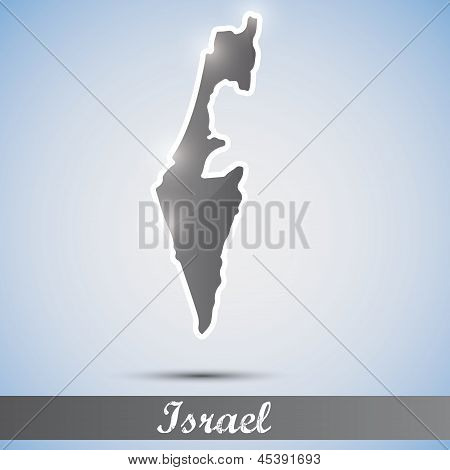 shiny icon in form of Israel