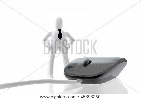 Computer Mouse And Businessman