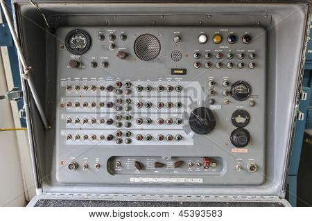 Old Nike Missile Control Panel With Dials And Lights