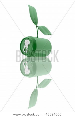 Ecological Beverage Can Symbol