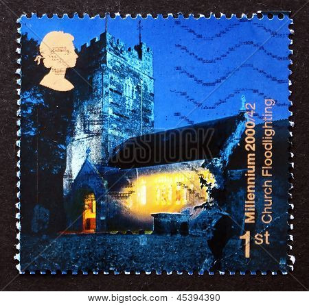 Postage Stamp Gb 2000 Church Floodlighting, Christmas