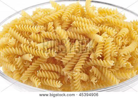 Plate Of Raw Spirelli