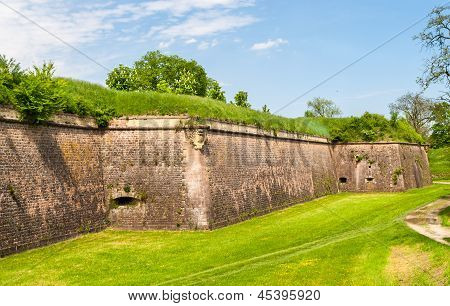 Moats And Fortifications Of Neuf-brisach Conceived By Vauban - Alsace, France