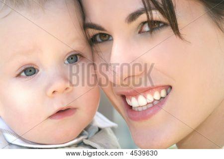 Mutter mit cute Baby boy