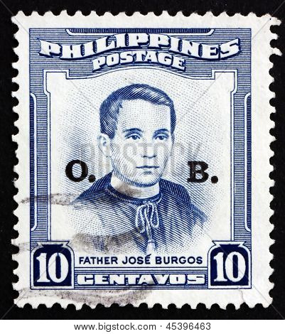 Postage Stamp Philippines 1955 Father Jose Burgos