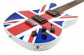 image of sounding-rod  - Electric guitar with the british flag graphic - JPG