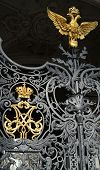 picture of armorial-bearings  - wrought gold russian empire crown and golden double eagle  - JPG