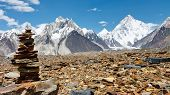 picture of skardu  - Cairn in the Karakorum Mountains Pakistan - JPG