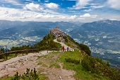 image of hitler  - The Eagles Nest tea house at Berchtesgaden in Bavaria  - JPG