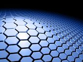 foto of unicity  - An abstract 3d background with honeycomb pattern - JPG