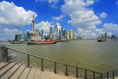 Lujiazui Finance&trade Zone Of Shanghai Bund Landmark Skyline  City Landscape