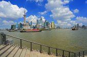 Lujiazui Finance&trade Zone Of Shanghai Bund Landmark Skyline  City Landscape poster