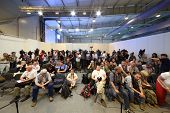 ZHUKOVSKY - JUNE 25: Photographers and journalists at second International Forum Engineering Technol