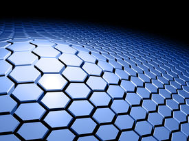 pic of unicity  - An abstract 3d background with honeycomb pattern - JPG