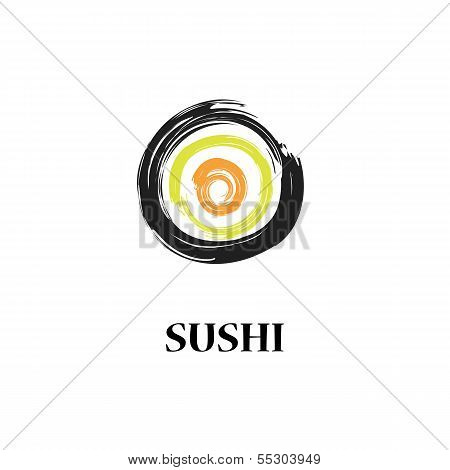 Abstract Vector Sushi Roll