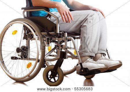 Sitting In A Wheelchair