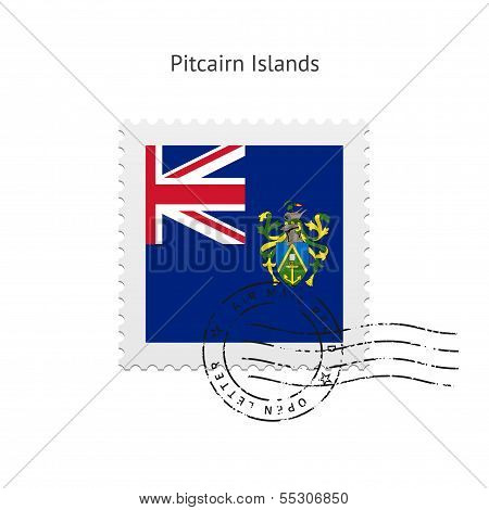 Pitcairn Islands Flag Postage Stamp.