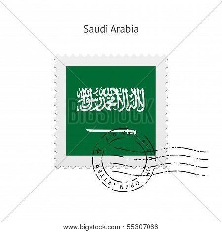 Saudi Arabia Flag Postage Stamp.