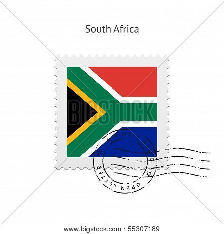 South Africa Flag Postage Stamp.