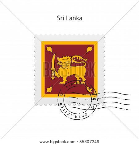Sri Lanka Flag Postage Stamp.