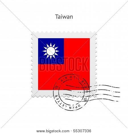 Taiwan Flag Postage Stamp.