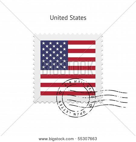 United States Flag Postage Stamp.