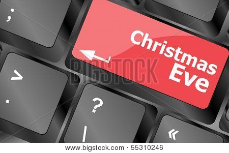 Christmas Eve Message Button, Keyboard Enter Key