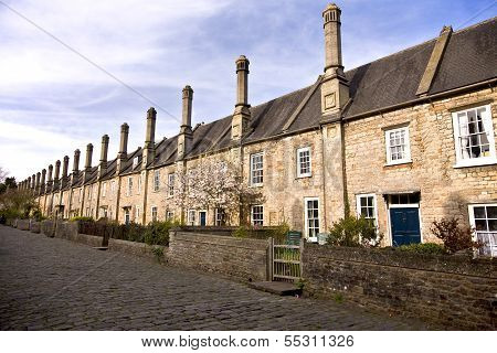 Old terraced houses in Somerset