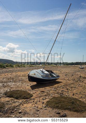 Stranded Sailing Boat