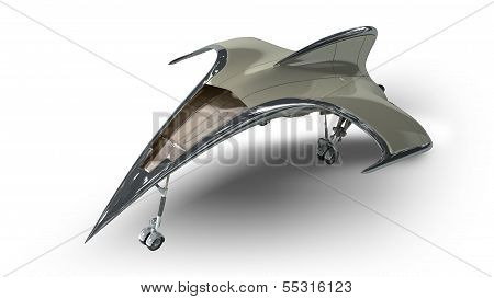 Futuristic alien 3D military spaceship