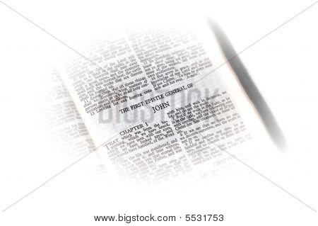 Bíblia aberta para John vinheta