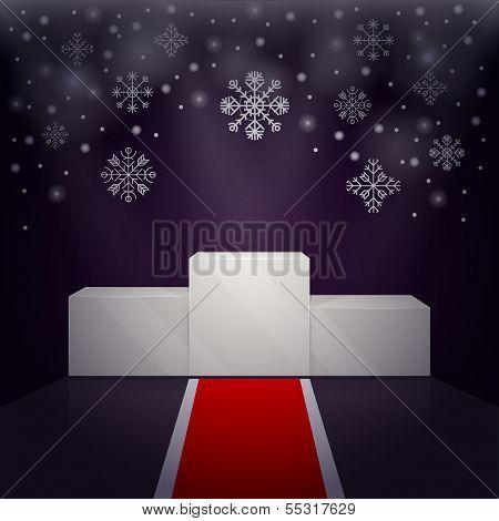 Sport winners pedestal winter theme