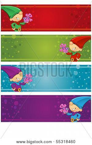 4 Christmas Banners