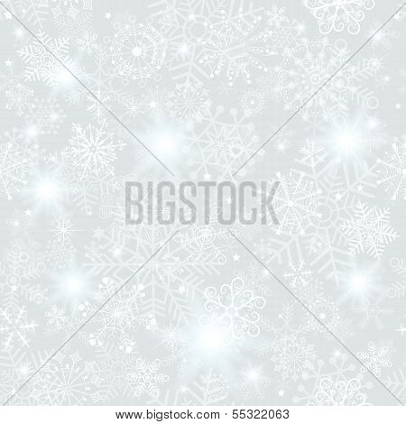 Seamless Silver Christmas Pattern