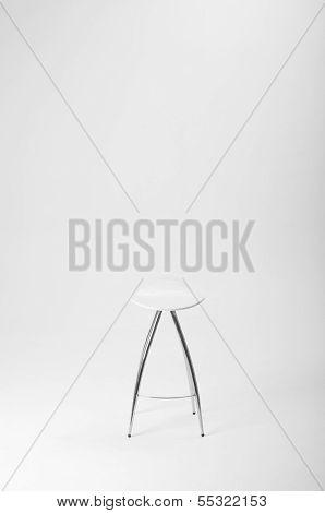 Vacant white stool