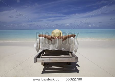 Woman on Maldives Beach