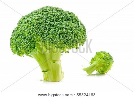 Raw Broccoli Isolated