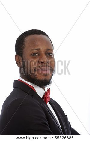 Smiling Confident Middle-aged African Man