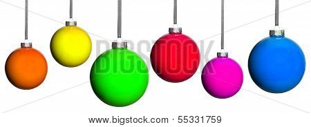 Many Coloured Christmas Tree Balls